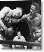 Joe Louis Left, Takes A Hard Right Metal Print by Everett