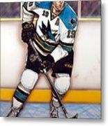 Joe Thornton San Jose Sharks Metal Print by Dave Olsen