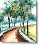 Jogging Track Metal Print by Anil Nene