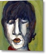 John Lennon As An Elf Metal Print by Mindy Newman