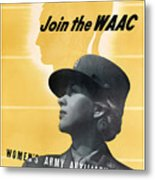 Join The Waac Metal Print by War Is Hell Store