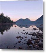 Jordan Pond Reflections - Acadia Metal Print by Stephen  Vecchiotti