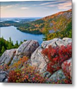 Jordan Pond Sunrise  Metal Print by Susan Cole Kelly