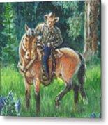 Juel Riding Chiggy-bump Metal Print by Dawn Senior-Trask