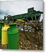 Jugs And Wagon Metal Print by Dale Stillman