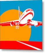 Jumbo Jet  Metal Print by Aloysius Patrimonio