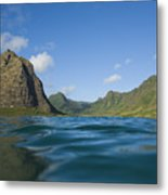 Kaaawa Valley From Ocean Metal Print by Dana Edmunds - Printscapes