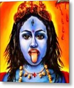 Kali  -hindu Goddess Metal Print by Carmen Cordova