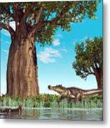 Kaprosuchus Crocodyliforms Metal Print by Walter Myers