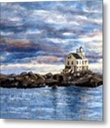 Katland Lighthouse Metal Print by Janet King