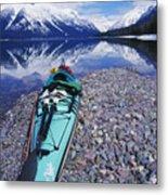 Kayak Ashore Metal Print by Bill Brennan - Printscapes