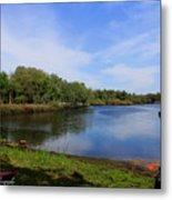 Kayaking The Cotee River Metal Print by Barbara Bowen