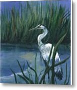 Keeper Of The Pond II Metal Print by Shirley Lawing