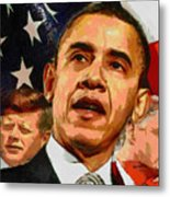 Kennedy-clinton-obama Metal Print by Anthony Caruso