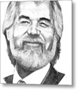 Kenny Rogers Metal Print by Murphy Elliott