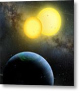Kepler-35 Metal Print by Lynette Cook