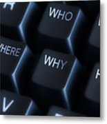 Keyboard With Question Labels Metal Print by Blink Images