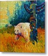 Kindred Spirits - Kermode Spirit Bear Metal Print by Marion Rose