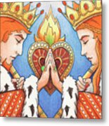 King And Queen Of Hearts Metal Print by Amy S Turner