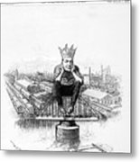 King Debs. Caricature Of Eugene Debs Metal Print by Everett