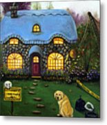 Kinkade's Worst Nightmare 2  Metal Print by Leah Saulnier The Painting Maniac