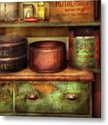 Kitchen - Food - The Cake Chest Metal Print by Mike Savad