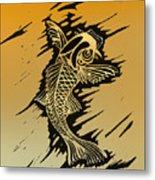 Koi 2 Metal Print by Jeff DOttavio
