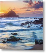 Koki Beach Harmony Metal Print by Inge Johnsson