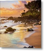 Koki Beach Sunrise Metal Print by Inge Johnsson