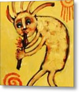 Kokopelli Watches Metal Print by Carol Suzanne Niebuhr