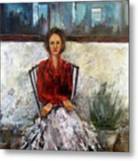 Lady In Waiting Metal Print by Mary St Peter