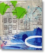 Lake Houses Metal Print by Linda Woods