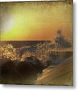 Lake Michigan Sunset Metal Print by Maria Dryfhout