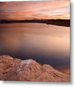 Lake Powell Dawn Metal Print by Mike  Dawson
