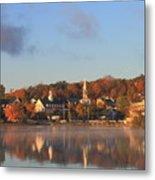 Lake Winnipesaukee Meredith Autumn Morning Metal Print by John Burk