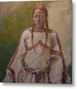 Lakota Woman Metal Print by Ellen Dreibelbis