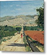 Landscape In Provence Metal Print by Paul Camille Guigou