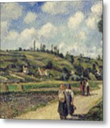 Landscape Near Pontoise Metal Print by Camille Pissarro