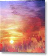 Landscape Of Dreaming Poppies Metal Print by Valerie Anne Kelly