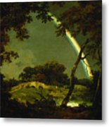 Landscape With A Rainbow Metal Print by Joseph Wright of Derby