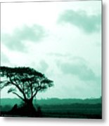 Landscape With Tree Metal Print by Barbara Marcus