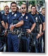 Lapd Safeguarding Lives Metal Print by Chris Yarzab