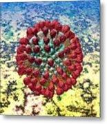 Lassa Virus Metal Print by Russell Kightley