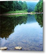 Late Summer At The Baptizing Hole Metal Print by Thomas R Fletcher