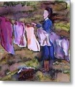 Laundry Day Metal Print by Carolyn Doe