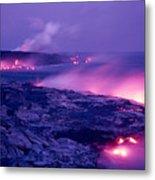 Lava Flows To The Sea Metal Print by Mary Van de Ven - Printscapes