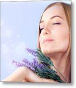 Lavender Spa Aromatherapy  Metal Print by Anna Omelchenko