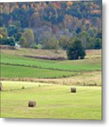 Layers Of Fields Metal Print by Jan Amiss Photography