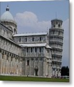 Leaning Tower Of Pisa Metal Print by Joseph R Luciano