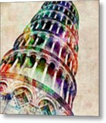 Leaning Tower Of Pisa Metal Print by Michael Tompsett
